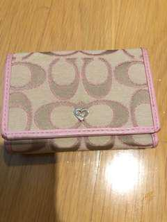 Coach Pink Wallet Poppy trifold