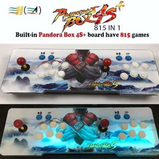 Arcade Retro Game Console Pandora's Box 4S+ 815 Games / Metal Box with Backlight