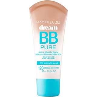 Maybelline Makeup Dream Pure BB Cream, Medium Skintones, BB Cream Face Makeup, 1 fl oz