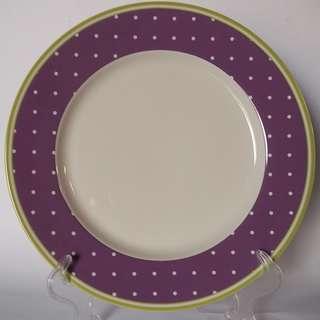 10.5' Dinner Plate (piring makan) Purple Dot AW 282