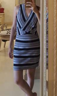 MNG dress stripe