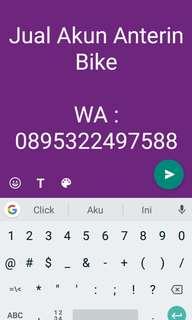 Jual Akun Anterin Bike
