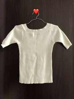 2 Ways Off-shoulder White Top