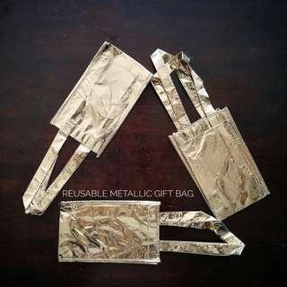Reusable Metallic Gift Bag.