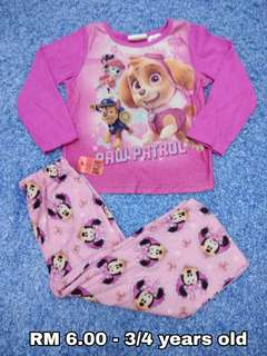 3/4 years old - Kids Cloth Shirt Girl Sleepwear