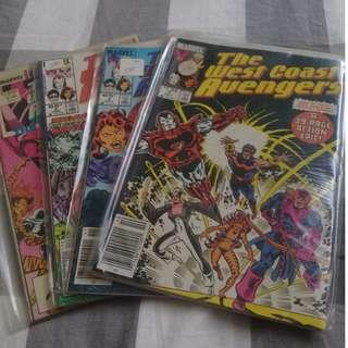 West Coast Avengers Comic Lot