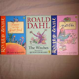 Roald Dahl Classics: Matilda, James & the Giant Peach, The Witches.