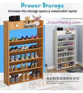 Free delivery Wooden Shoe Rack with Drawers