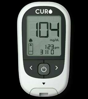 Curo G5 Blood Glucose Test Kit + 50 Glucose Test Strips (Additional)