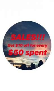 SALES ON ALL LISTING