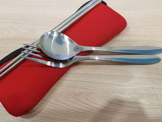 Free #blessings Cutlery set with a red bag