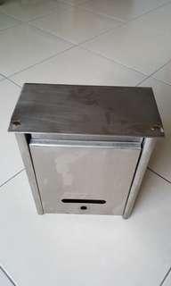 白鐵 信箱 (大) 不鏽鋼 25*9*34cm  二手 很新 便宜賣