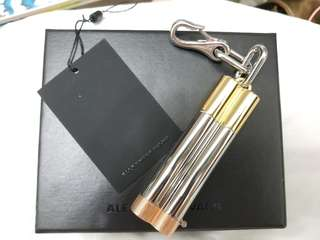 Alexander Wang Key Holder W/ Cigarette Holder Charm Silver/Gold