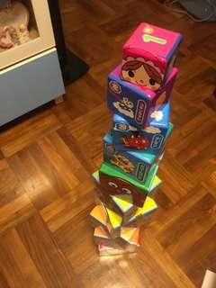 麵包超人數字英文硬盒積木