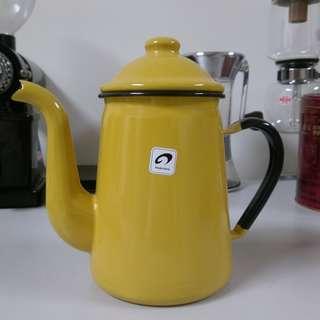野田琺瑯 咖啡壺1L(黃色) 手沖壺 琺瑯壺 日本製