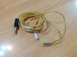 6 core gold coloured SPC MMCX IEM UPGRADE CABLE