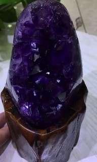 🌟精品級🔮烏拉圭紫晶簇 😱連木座