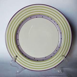 7.8' Cake Plate desain Purple Dot AW282 White
