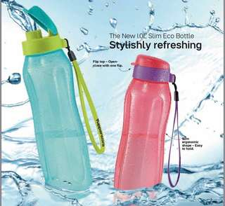 1L Slim Eco Bottle Set (2pcs)