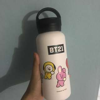BT21 Handle vacuum bottle (BTS) X Line friends