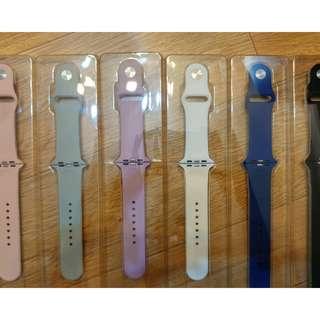 (包郵) 全新Apple watch 矽膠 運動錶帶 silicon band 42mm(黑色,純白,粉紅,深藍,灰色)free shipping