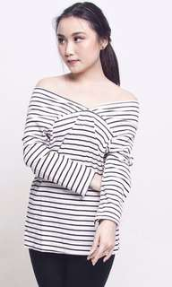 Comfy Stripe Off Top