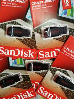 Sandisk Cruzer Blade Flash drive 16gb