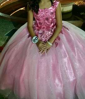 Ball Gown PINK and glittery