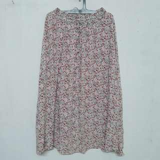 Floral long skirt rok panjang