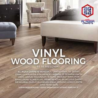 Creating a new look for your room is as easy as our DIY Wood Vinyl Flooring!