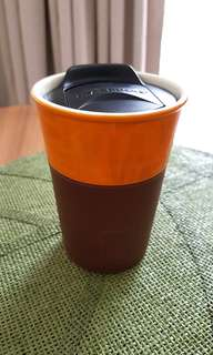 Starbucks ceramic mug with lid