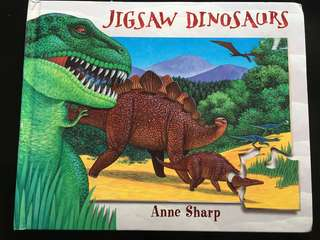 Jigsaw dinosaurs board book