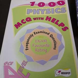 A Level RedSpot 1000 Physics MCQ