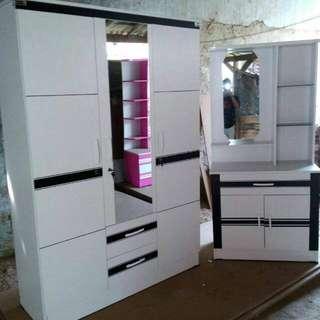 Set meja rias + lemari pintu3