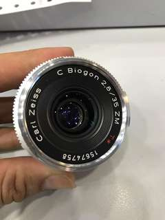 Zeiss 35mm F2.8 C Biogon Lens (Silver) Leica M mount