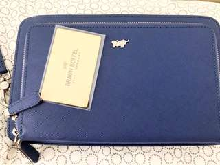 Braun buffel clutch bag men