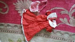 Flowered maid dress