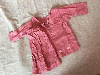Baju kurung baby size S