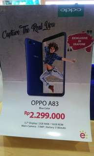 Oppo limitied edition color blue oppo A83
