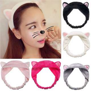 ( FREE GIFT FOR PURCHASING )Cat Ear Facial Headband