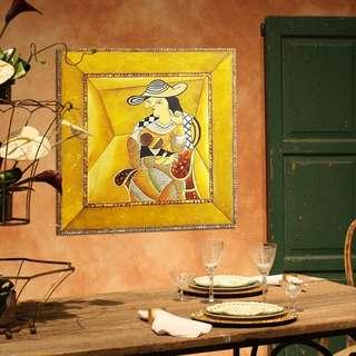 【特價$499】100X100CM油畫~女士~(限面交)~版畫 意象畫 抽象畫 客廳 餐廳 臥室~中悅生活家具~