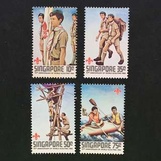 Singapore 1983 World Scout full set of 4, MnH