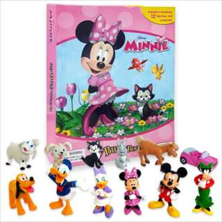 BNIB: Disney Minnie Mouse My Busy Books including 12 figurines and playmat