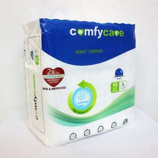 Comfy Care Adult (DAY) Diapers 10's (M/L)