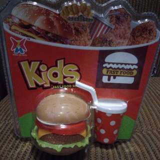 BRANDNEW STACKABLE HAMBURGER with Drink