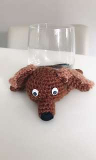 Doggie Crochet Cup Coaster