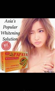 🚚 Papaya Whitening Soap With Sunscreen Vitamins Herbs