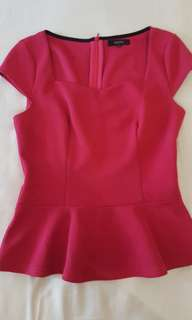 Peplum Top Blouse
