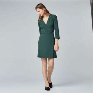 Warehouse Green Dress Size 36