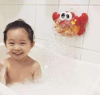 兒童洗澡玩具 螃蟹泡泡製造機